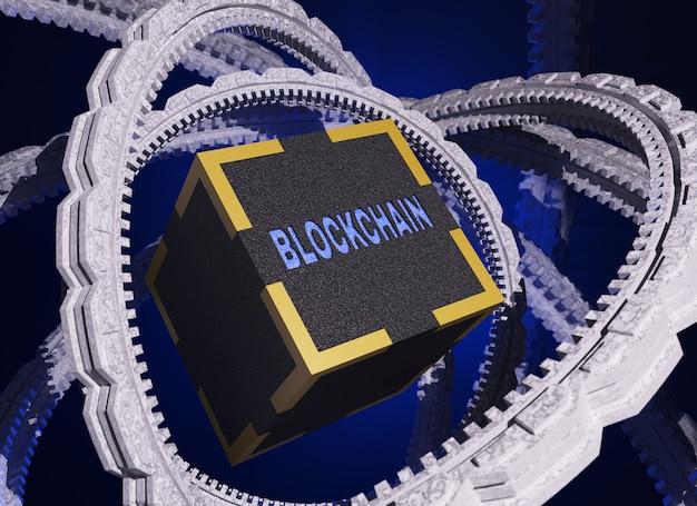 Concept van netwerktechnologie blockchain.