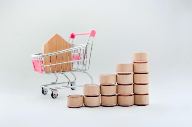 Concept van persoonlijke uitgaven, winkelen en financiën.