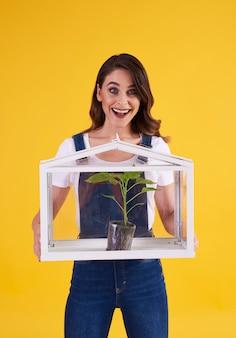 Concept van tuinieren in de kas