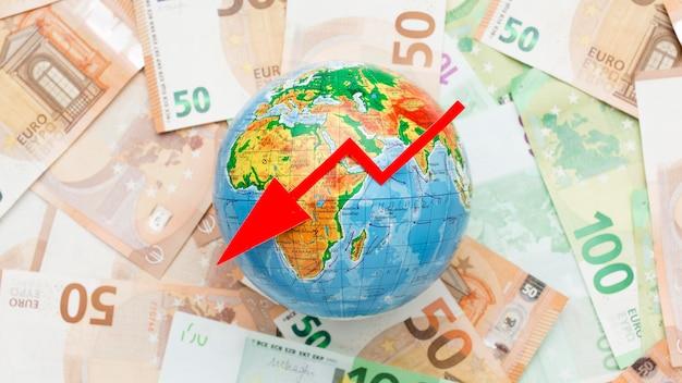 Concept van wereldwijde economische crisis