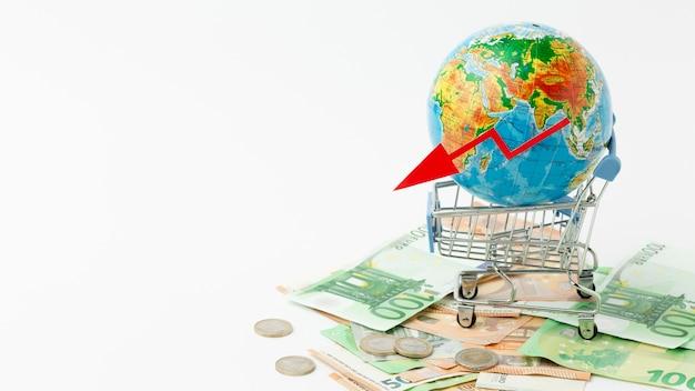 Concept van wereldwijde economische depressie