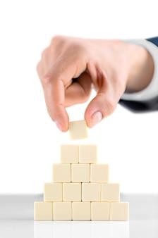 Concept van zakelijke hiërarchie en human resources