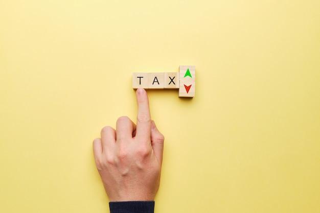 Concept voor veranderingen in belastingrentetarieven