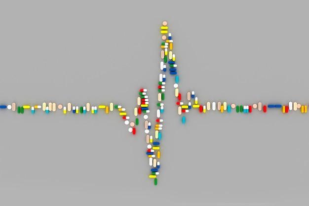 Conceptenkunst op het onderwerp van geneeskunde 3d illustratie