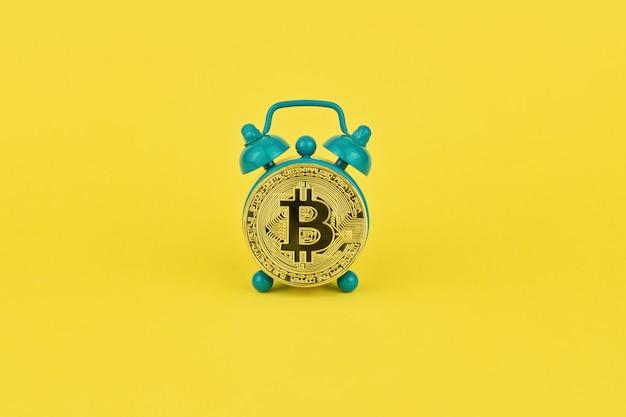 Concepttijd voor cryptocurrency-mijnbouw
