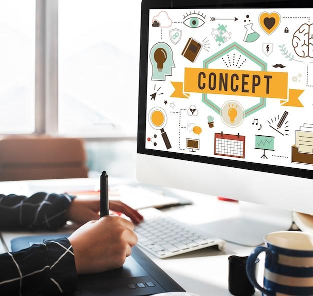 Conceptualiseer conceptie conceptuele ideeën plan concept