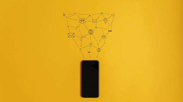 Conceptueel beeld van communicatie en verbinding