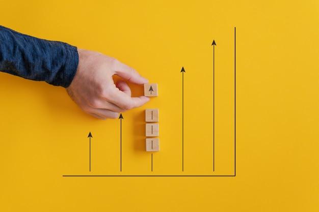 Conceptueel beeld van de beurs en de groei van de economie