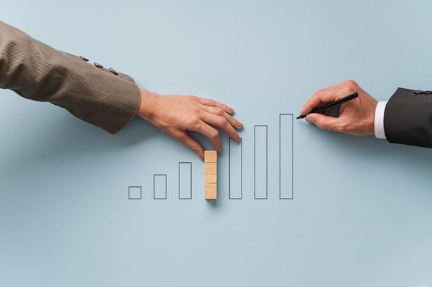 Conceptueel beeld van de economie en de financiële markt