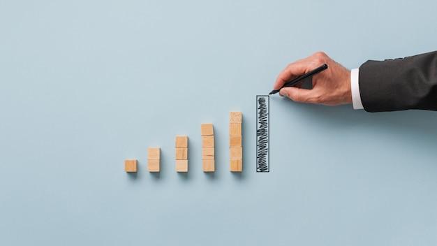 Conceptueel beeld van economie en beurs