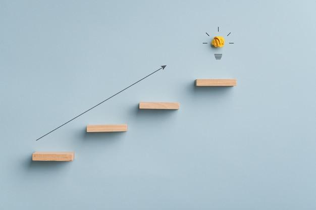 Conceptueel beeld van idee, innovatie en ambitie