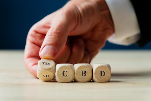 Conceptueel beeld van legalisatie en gebruik van cbd.