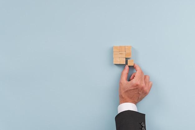 Conceptueel beeld van zakelijke visie, strategie en opstarten