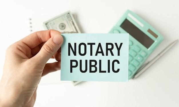Conceptueel handschrift met notaris. zakelijke foto tekst wettigheid documentatie autorisatie certificering.