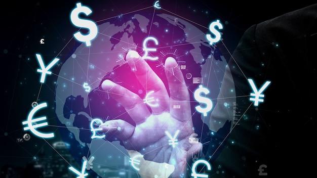 Conceptueel zakelijk dashboard voor analyse van financiële gegevens