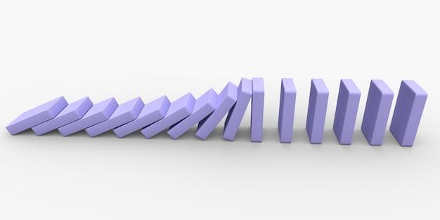 Conceptuele illustratie van vallende stenen die elkaar duwen