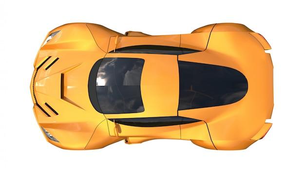 Conceptuele oranje racewagens