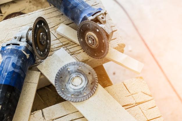 Concrete cutter machinary tool constructie concept