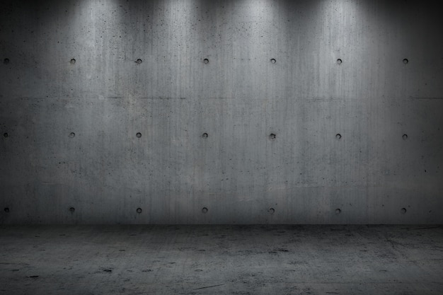 Concrete muur die donkere sterke ruimte voor achtergrond bouwt
