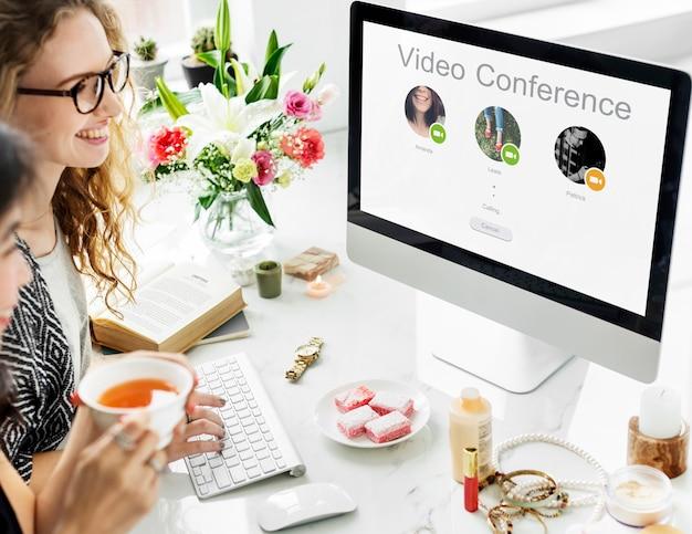 Conferentiegesprek netwerk communicatieconcept