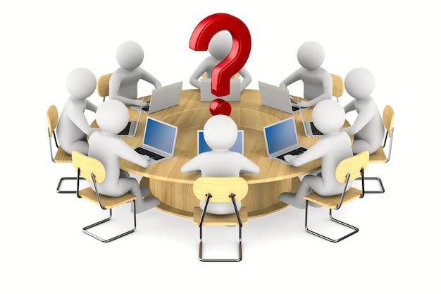 Conferentietafel op witte achtergrond. geïsoleerde 3d-afbeelding