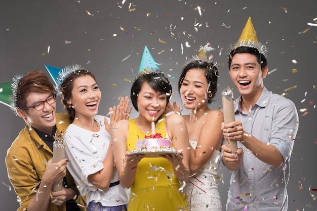 Confetti Premium Foto
