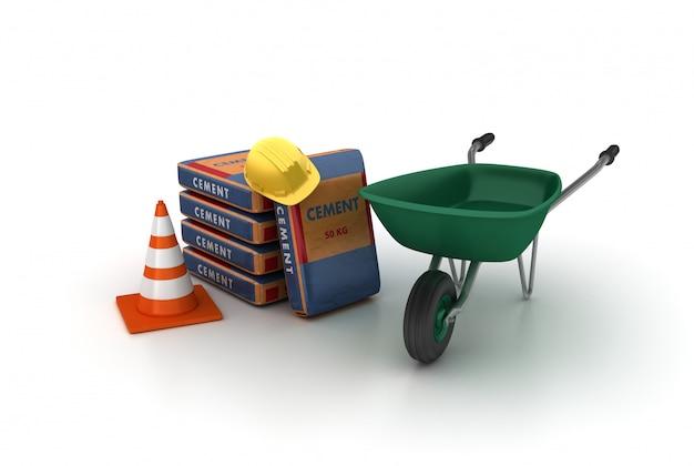 Constructie van cementzakken
