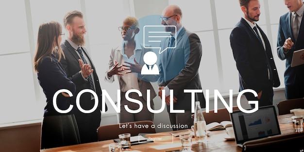 Consulting advies assistentie suggestie begeleiding concept