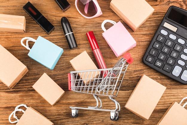 Consumenten gebruiken internetwinkelconcept