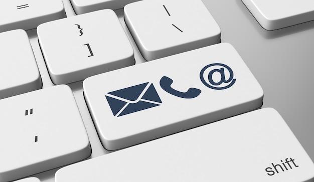 Contact iconen op toetsenbord knop