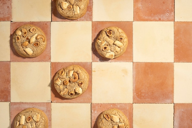Cookies arrangement bovenaanzicht