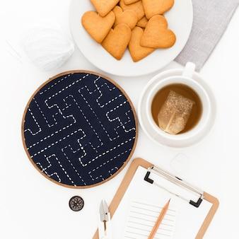Cookies voor het ontbijt op kantoor