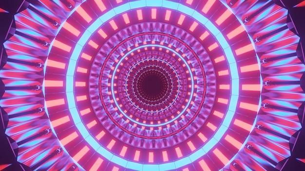 Cool futuristische achtergrond met verlichte kleurrijke cirkels