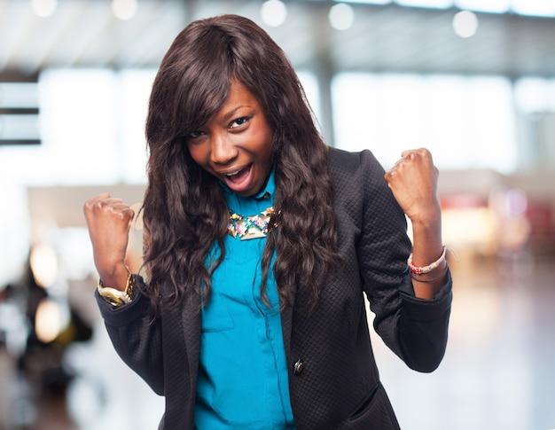 Coole zwarte-vrouw winnaar