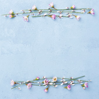 Copy-ruimte met bloementakken