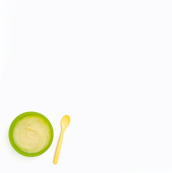 Copy-space babypuree