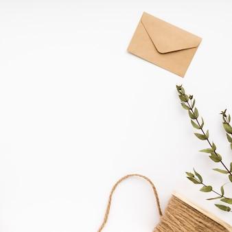 Copy-space bruiloft envelop