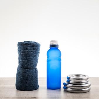 Copy-space fitnessapparatuur bij hydratatiemiddelen