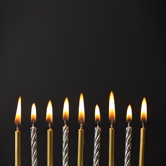 Copy-space gestookte kaarsen