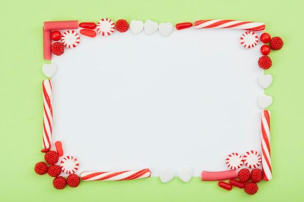Copy-space snoepjes heerlijke frame