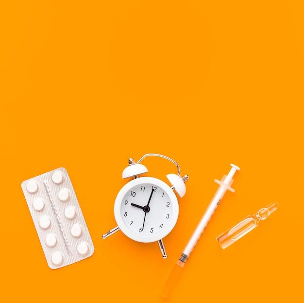 Copy-space tijd voor medicijnen