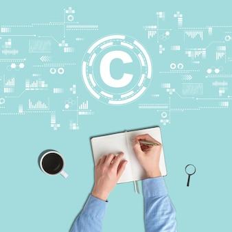 Copyrightconcept en bescherming van eigendomsrechten