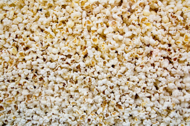 Corncorn popcorn close-up beeld van glas