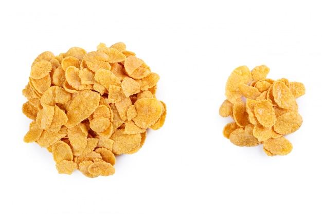 Cornflakes assortiment geïsoleerd