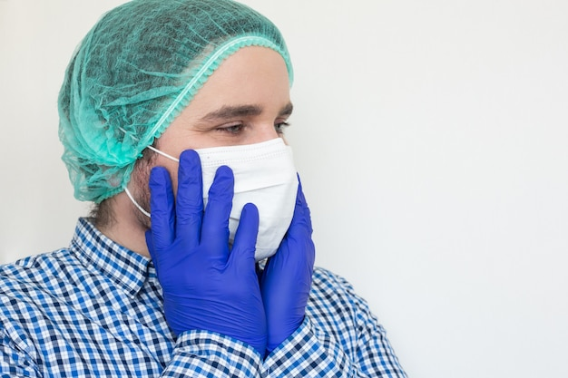 Coronavirus. bedankt dokters en verpleegsters die in de ziekenhuizen werken en het coronavirus bestrijden.