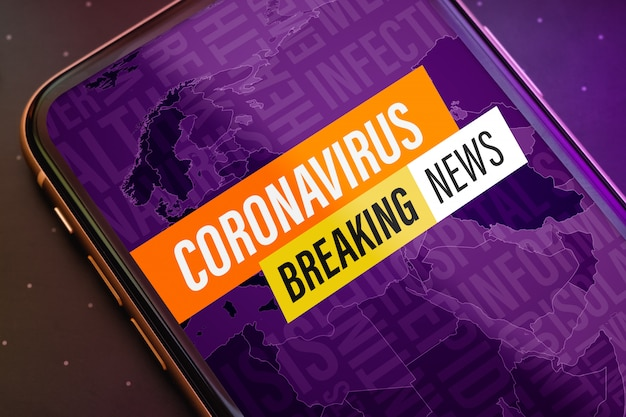 Coronavirus breaking news update-concept.