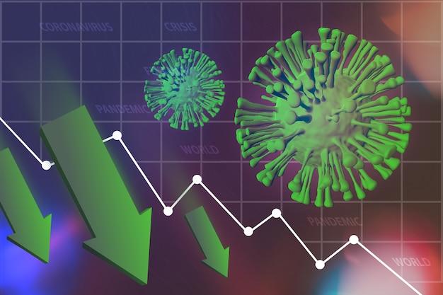 Coronavirus covid-19 pandemie impact op wereldwijde economische recessie