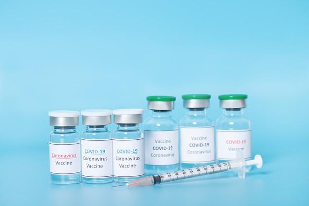 Coronavirus-vaccin, covid-19-vaccin. gezondheidszorg en medisch concept.