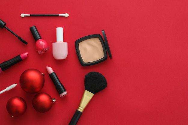 Cosmetic branding fashion blog cover en girly glamour concept