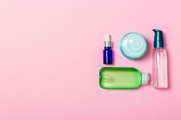Cosmetica spa branding mock-up, bovenaanzicht